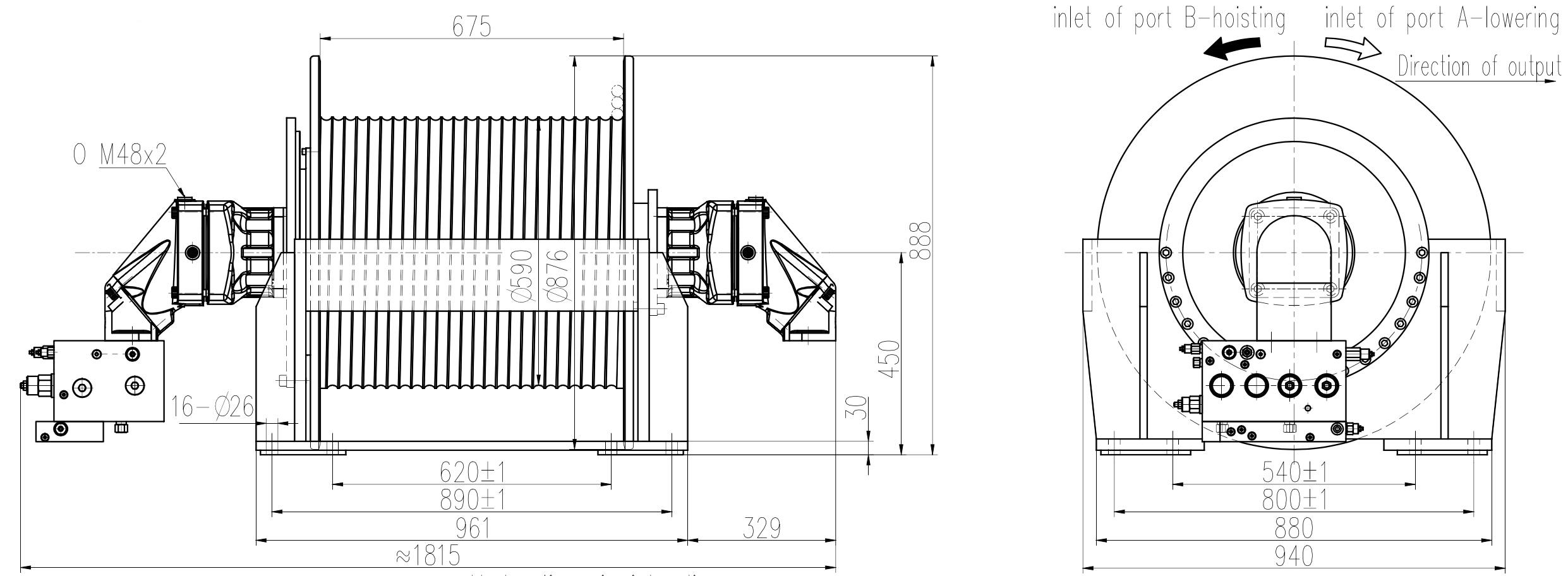 dual motor winch configuration
